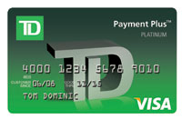 TD Payment Plus VISA Credit Card