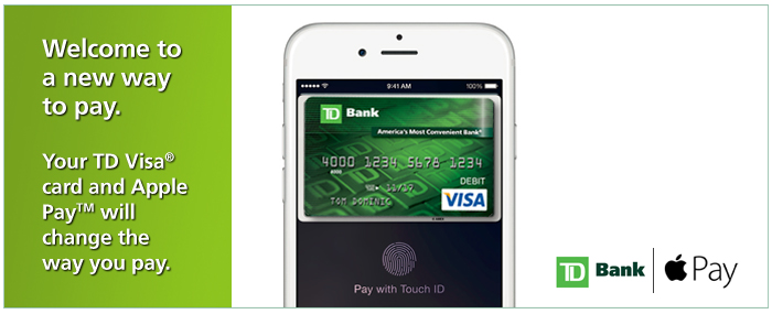 Add your TD Visa Debit or Credit Card to Apple Pay. | TD Bank