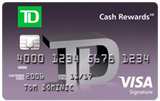 Td cash rewards visa credit card