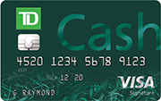 TD Cash Visa credit card for dining rewards