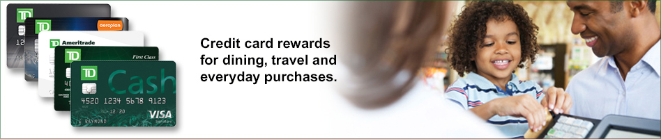 Credit card rewards for dining, travel and everyday purchases.