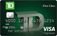 Travel rewards card td first class visa signature credit card compare td cards reheart Image collections