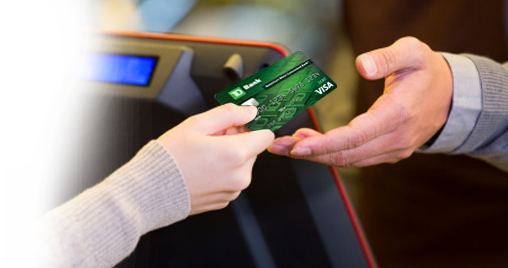 TD Bank Visa Debit Card: the easy and secure way to shop.