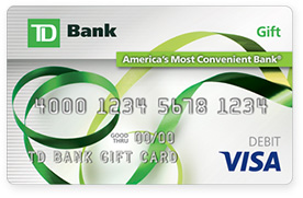 Custom Gift Cards Order Business Gift Cards As Rewards Td Bank