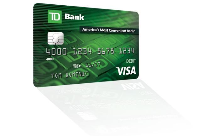 Your Td Bank Visa Debit Card Makes Shopping Easy And Secure Td Bank