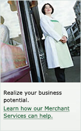 Realize your business potential. Learn how our Merchant Services can help.