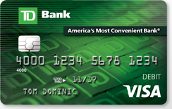A Picture Of The Td Bank Debit Card