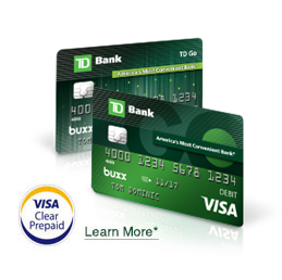 Td go the reloadable prepaid card for teens td bank td go reloadable prepaid visa card reheart Image collections