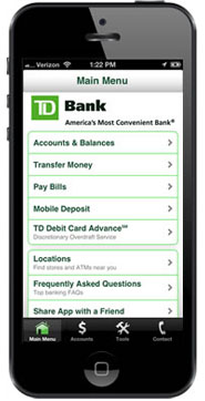 Mobile Banking with Mobile Deposit  TD Bank